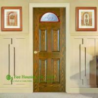 China Solid Entry Doors For Apartment, Front Entry Door For Sale, Exterior Solid Wood Panel Doors With Glass Panels on sale