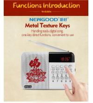 Buddhist dc 5v mini speaker portable digital radio mp3 player with usb input