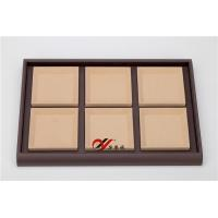 China Eco-friendly Jewellery Display Trays 6 Grid Removable Microfiber Pad Pu Leather Coverd wholesale