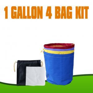 China 100% waterproof Nylon Canvas bubble hash bags 1 Gallon 4 bags kits wholesale