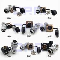 China WS16 φ16mm Panel Mount Metal Connector 2pin 3pin 4 pin 5pin 6pin 7pin 8pin 9pin wholesale