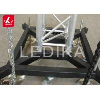 China Truss Basement Stage Truss System Lift Steel Base Plate With Wheels / Outrigger wholesale