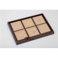 Quality Eco-friendly Jewellery Display Trays 6 Grid Removable Microfiber Pad Pu Leather for sale