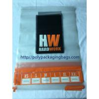 Quality Custom Printed  Transparent  Self Adhesive Plastic Bags For Clothing Packaging for sale