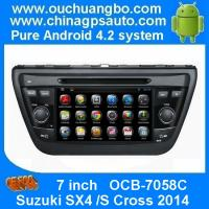 "China Ouchuangbo 7""Android 4.2 Car GPS Navigation Radio for Suzuki SX4 2014 /S Cross 2014 3G Wifi USB DVD RDS OCB-7058C on sale"
