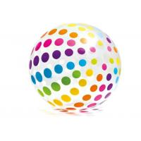 "China Jumbo Inflatable Beach Ball 42"" Large Diameter Crystal Clear-Translucent Dots wholesale"