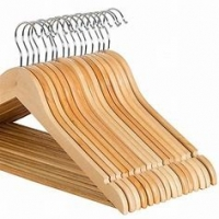 Buy cheap 360 Degree Solid Wood Hangers , Swivel Hook Wooden Pants Hangers With Clips from wholesalers