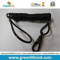 China Police Using Black Strong Safe Spring Hook Coil Lanyard on sale