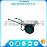 China Galvanized Color Double Wheel Wheelbarrow6CBF 1.2mm Tray Thickness 13.9kg wholesale