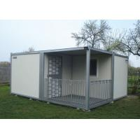 China Villa Modular Container House , Gray And White Tiny House Container With Fence wholesale