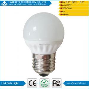 China High quality 3W E14/E27 bulb shaped Ceramic LED bulb light wholesale