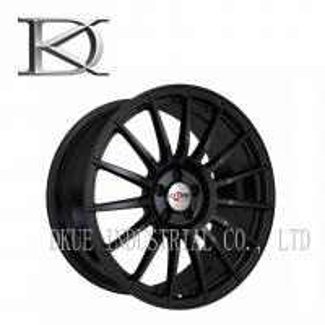 China Personalized Aluminum Racing Wheels 16 Spoke Black Chrome Rims Cool Styling wholesale