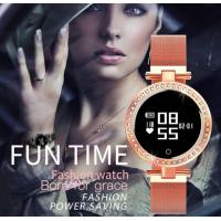 China women  smartwatch IP68 heart rate monitor bracelet girl with 44 rhinestones fashion smart watch for ladies wholesale