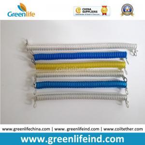 China Testing Machine Need Spiral Spring 10CM Long Tether Holder with 2pcs Metal Eyelets wholesale