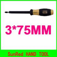 China SunRed wholesale good quality Cr-V steel 3*75mm insulated magnetic slotted screwdrivers NO.7652 on sale