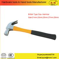 China British Type Claw Hammer with fiberglass handle wholesale