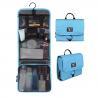 China Travel Nylon Wash Bag / Toiletry Bag Hanging Hook Zippered Mesh Pocket Inside wholesale