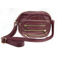 China Spring / Summer Three-zipper On The Front Synthetic Crossbody Leather Bags For Women wholesale