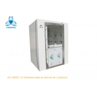 China Stainless Steel Swing Doors Cleanroom Air Shower For 2 Person wholesale