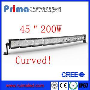 "China 45"" 200W Curved Led Light bar-Cree Single Row Led Light Bar wholesale"
