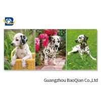 China Lovely 3d Animal Picture With Black Frame , Lenticular 3d Stereograph Printing wholesale