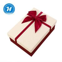 China Rigid Personalized Wedding Favor Boxes With Bow - Knot FSC Certification wholesale