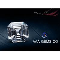 China White Color Asscher Cut Moissanite Loose Stones For Pendant / Earring wholesale