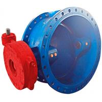 China DN1000 Metal Double Eccentric Butterfly Valve / Cast Iron Butterfly Valve Electromotion Power wholesale