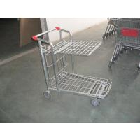 China Store supermarket Warehouse Cargo Trolley with foldable platform and 5 inch casters wholesale