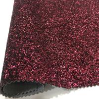 Buy cheap Fashion Glitter Leather Fabric Popular Design Decoration Uphosltery from wholesalers