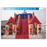 China Customized Big Inflatable Water Slides With Clown Image For Amusement Park on sale