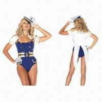 China 3pcs Blue Sea Sailor Costume for Adults, OEM Orders Welcome, Various Styles are Available wholesale