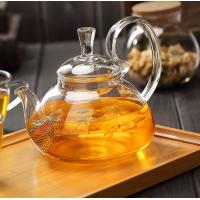 China Clear Heat Resistant Glass Teapot 350ml With removable tea infuser for sale wholesale