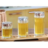 China Small Glass Honey Jars / Transparent Glass Storage Jars For Cosmetic With Lid wholesale
