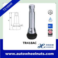 China TR418AC Auto Tire Valve Stem , Tubeless Snap In Rubber Valve And Valve Cap wholesale