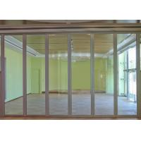 China Aluminum Frameless Movable Office Partition Wall / Glass Wall Dividers wholesale