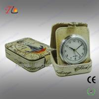 China OEM design portable travel alarm clock in PU case CE ROHS on sale
