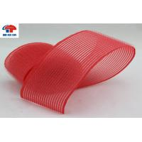 China Red Nylon Heated Hook And Loop Hair Rollers / Hair Band For Women , Self Grip wholesale