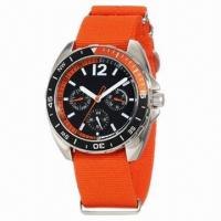 China 2013 New Style Fashionable Promotional Watch with Nylon Strap and Metal Case, Japanese Movement wholesale