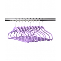 Buy cheap Ultra Thin Slim Velvet Hangers ABS Flock Notched Shoulders from wholesalers