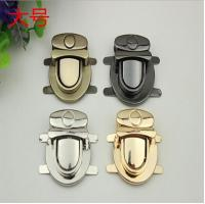 China Professional custom luxury gold zinc alloy metal bag push locks 35*40 mm wholesale
