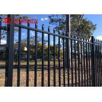 China Ornamental Galvanized Steel Spear Top Fencing Panels Security For Garden And Stairs wholesale