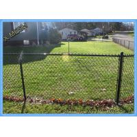 Quality 11.5 Gauge Green PVC Coated Galvanized Chain Link Fence for farm garden for sale