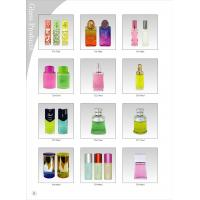 China Glass / Crystal Cap Blown Glass Perfume Bottles 100ML Color Coating wholesale