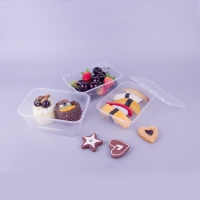 China Clear Hinged 1000ml Disposable Plastic Food Tray on sale