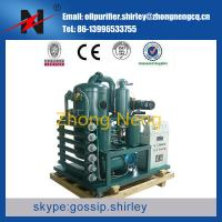 China ouble Stage Vacuum Transformer Oil Purifier, Insulating Oil Filtration Machine, Oil Recycling System wholesale