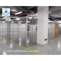 China Class 10000 FFU Clean Room Equipment Aluminum Structure With Sliding Doors /  Pharmaceutical Clean Booth wholesale