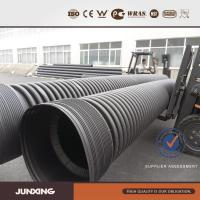 Quality large diameter HDPE twin wall corrugated culvert pipe for sale