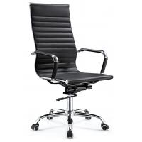 China High End Excecutive High Back Office Chair Pu Leather Chrome Arm Waterproof wholesale