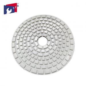 China 4 Inch Diamond Polishing Pads , White Sharp Dry Granite Polishing Pads wholesale